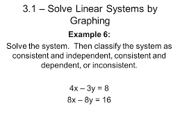 example 6 solve the system