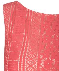 Fit Flare Lace Coral Dress Rickis