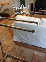 Sofa Table Diy Easy Diy Sofa Table With Pipe Frame Sawdust Sisters
