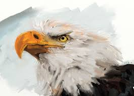 mouse paintings eagle by ifke