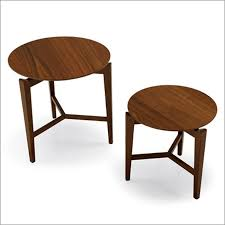 more views calligaris symbol round wood side table
