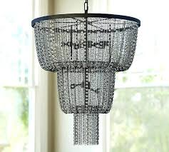 pottery barn chandelier anise crystal knock off clarissa drop round chande