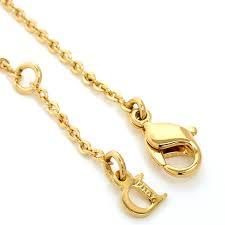 dior logo letter pendant necklace gold collar