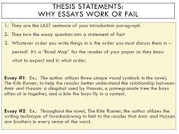 organization help before the in class writing exam on friday oct  thesis statements why essays work or fail 1