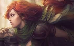 women redhead artwork windrunner dota 2 dota video games