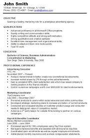 Chronological Resume Samples