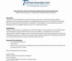Cover Letter Sample Resume For Faculty Position Inspirationalct