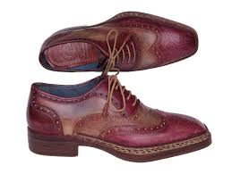 triple leather sole goodyear welted wingtip brogues