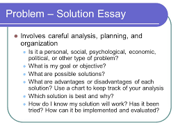 problem and solution essay the writing center problem and solution essay