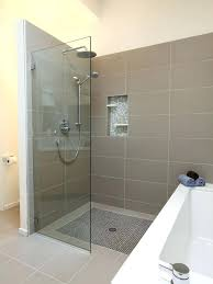 shower half glass wall pros and cons of having a walk in to support bar shower half glass wall