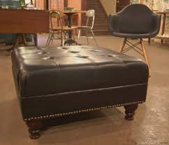 black leather ottoman coffee table awesome new oversized leather ottoman coffee table brickrooms interior design