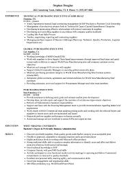 Purchasing Executive Resume Samples Velvet Jobs
