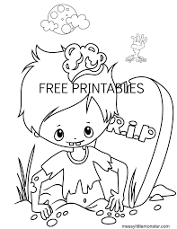 Here are our halloween coloring pages for adults (or talented kids !). Halloween Colouring Pages For Kids Messy Little Monster