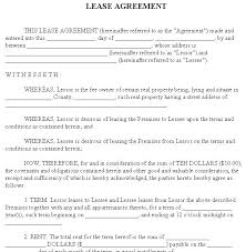 Free Residential Lease Agreement Forms To Print Basic Rental Form