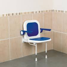 bariatric wall mounted shower seat with back arms legs disabled s mobility aids care home s