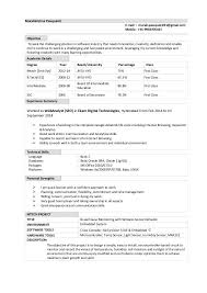 M Tech Fresher Resume Format Resume Format Pinterest Sample New Linux Fresher Resume Format