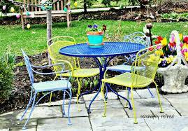black wrought iron outdoor furniture. Outdoor Dining Table Centerpiece Including Rectangular Oval Black Wrought Iron Patio Furniture Home Design Ideas Room E