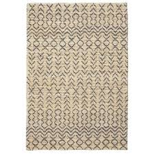 chunky all ivory charcoal grey jute loop pile hand woven floor area rug tribal