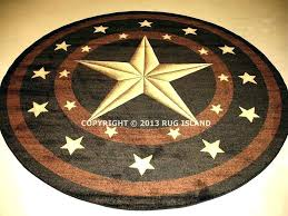 texas star area rugs area rug star rug round lone star rustic cowboy western black brown texas star area rugs