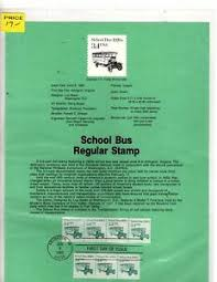 Fdc Color Chart Details About Us Stamp 2123 U A Souvenir Page Fdc With Plate 1 School Bus Mb8