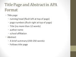 How To Create An Apa Title Page How To Make An Outline Apa Style Lynn W Zimmerman Phd
