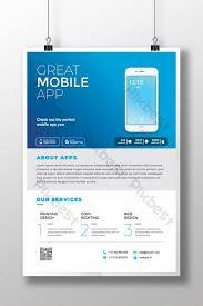 Design Flyer App Sky Blue Mobile App Flyer Template Ai Free Download Pikbest