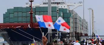 what the opening of the canal tells us about globalization  people wave flags as they wait for the chinese cosco container vessel d andronikos to