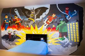 unbelievable superhero wall murals ideas