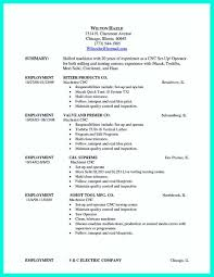 Nice Writing Your Qualifications In Cnc Machinist Resume A