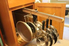 diy sliding pot rack