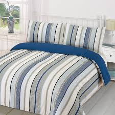 Duvet Quilt Cover With Pillowcase Bedding Set Tenby Stripe Aqua Pictures  Staggering Blue Gray Sets For ...