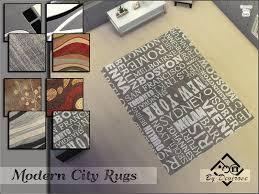 modern city rugs set