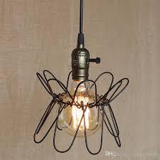 industrial cage lighting. Industrial Cage Light Vintage Retro Metal Ceiling Chandelier Edison Chandeliers Indoor Spotlight Grapefruit Lighting