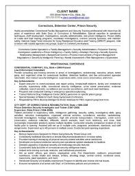 Corrections Officer Resume Example Pinterest Resume Examples