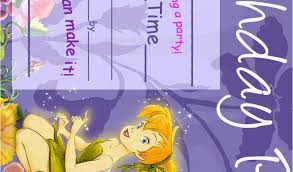 Tinkerbell Invitations Printable Download Tinkerbell Birthday Invitations Tinkerbell Birthday