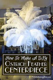 diy ostrich feather centerpieces