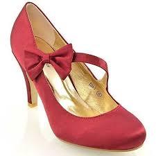 red wedding shoes amazon co uk Red Wedding Heels Uk womens bridal stiletto white ivory satin ladies heels wedding bridesmaid court shoes size 3 4 5 6 7 8 (uk 5 eu 38 us 7, burgundy satin) red wedding heels uk