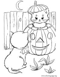 Harvest pumpkins and smiling jack o'lanterns. Cute Halloween Coloring Pages Coloring Home