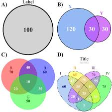four circle venn diagram figure 1 the four types of venn diagrams drawn by the venndiagram