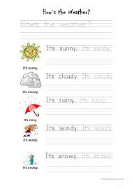 Esl Weather Worksheets Free Worksheets Library | Download and ...