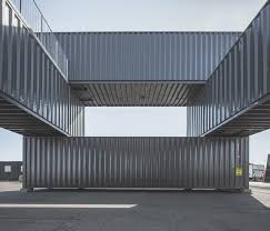 shipping container office building. arcgency made to be moved shipping container office building copenhagen designboom t