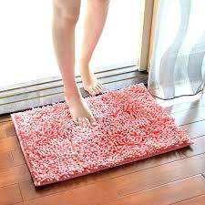 chenille bath rug mat bathroom carpet microfiber in solid 3 sizes for toilet absorbent soft mats chenille bath rug