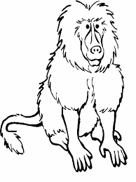 Small Picture Baboon Coloring Pages GetColoringPagescom