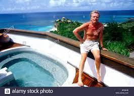 Sir Richard Branson sitting on the Main ...