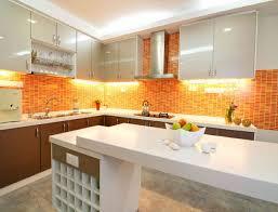 hkitc full kitchen orange cabinets