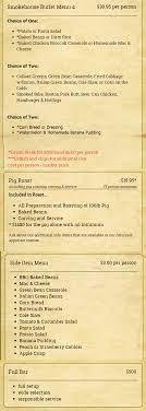 alabamas bbq catering menu lewiston