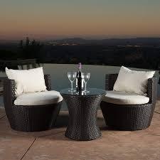 amazoncom patio furniture. Useful Wicker Outdoor Furniture Sets Amazon Com Christopher Knight Home 296323 Kyoto 3 Piece Chat Set Amazoncom Patio P