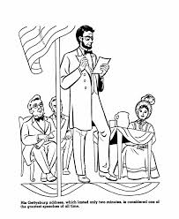 Small Picture USA Printables President Abraham Lincoln Gettysburg Address