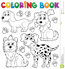 coloring book dog theme 5 stock vector ilration of looking 31162448