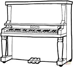 Small Picture Piano coloring page Free Printable Coloring Pages